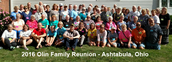 2017 Olin Family reunion participants