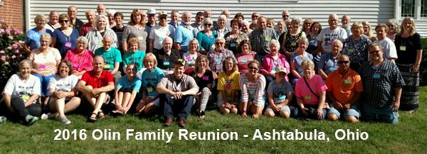 2017 Olin Family reunion participants